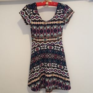 Planet Gold Tribal Bold Colorful Dress